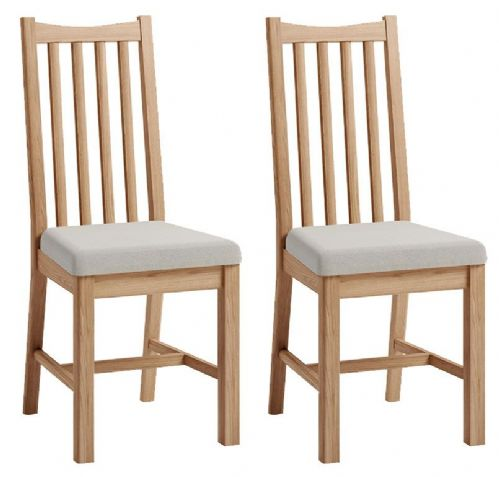 Pair of Greenwich Light Oak Cross Back Dining Chairs